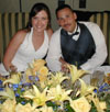 The newlyweds at their reception