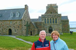 The Abbey on the Isle of Iona off the West Coast of Scotland
