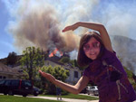 "Tori, ""Embracing"" the May 2 Fire that Consumed our Hillside Vegetation"