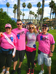 Draped as a Survivor and Walking with Dave, Jen Bailey, and Larry for Breast Cancer