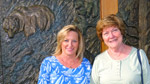 Cousin Jeanie Maxwell and Mary at the Taprock Restaurant in Grants Pass