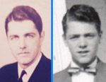 Larry's Father at 29 in Early 1944 and Larry at 14 in 1954